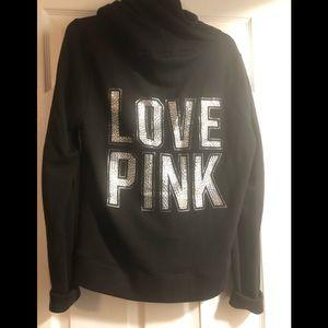 Pink rhinestone hoodie